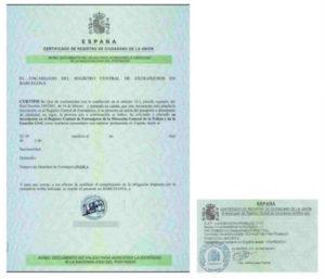 Spanish resideny card for EU